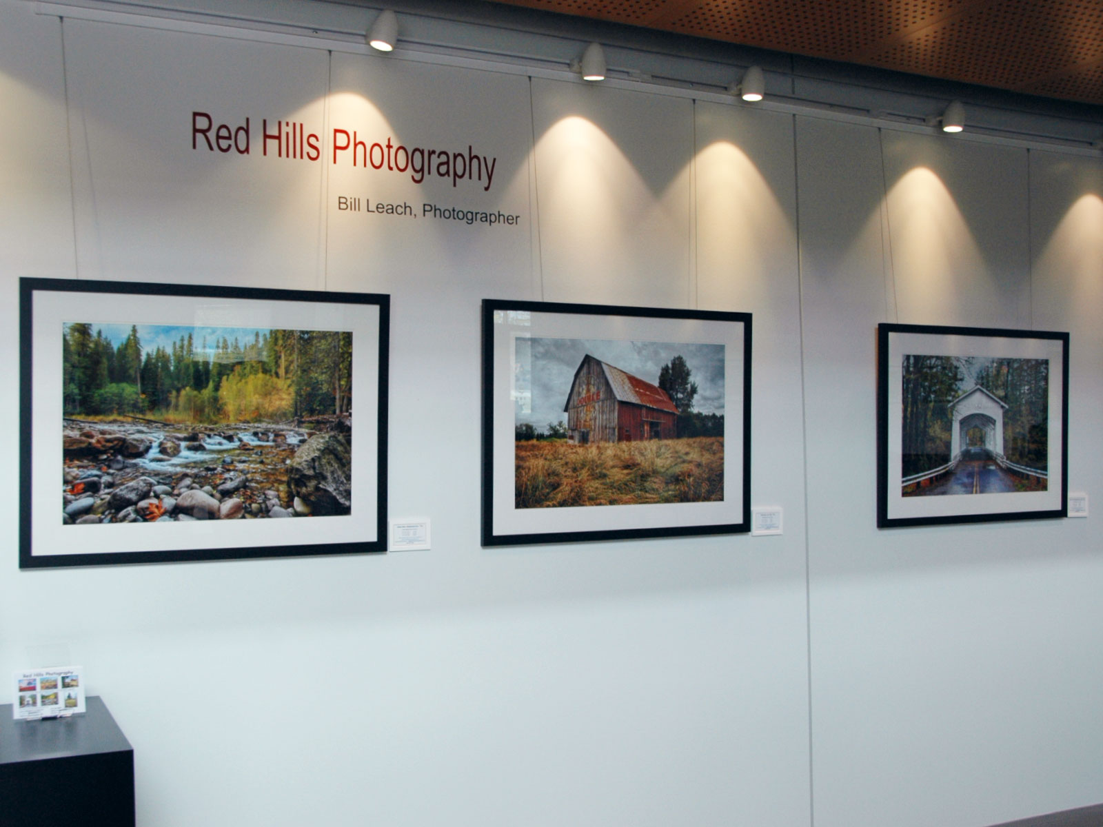 A set of photos from Red Hills Photography in the commons gallery of the Wilsonville campus