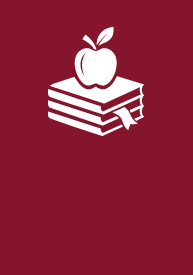 Teaching + Education EFA icon logo, an apple on top of books